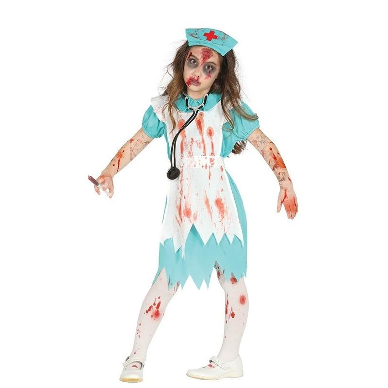 Zombie verpleegster/zuster verkleedkostuum voor meisjes