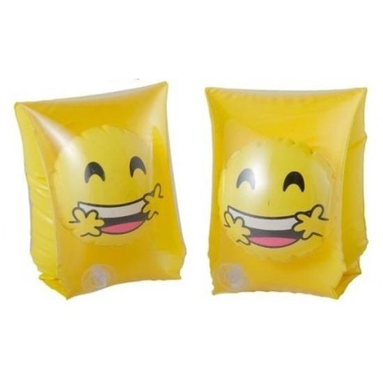 Zwembandjes/zwemvleugels met smiley geel 3-6 jaar