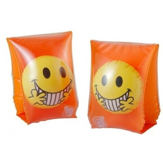 Zwembandjes/zwemvleugels met smiley oranje 3-6 jaar